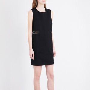 Maje Restal Stretch Cotton LBD Black Mini Dress